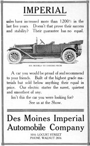 Imperial Automobile Company advertisement