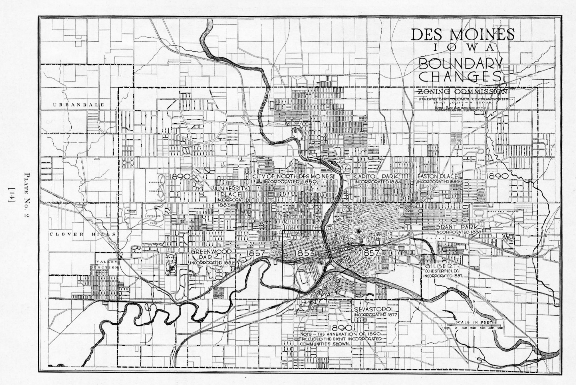 Des Moines Expansion – 1890 map | Des Moines Local History