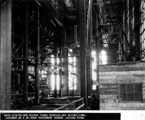 Des Moines Power Station, April 1926